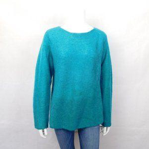 Eileen Fisher Teal Mohair Long Sleeve Sweater M